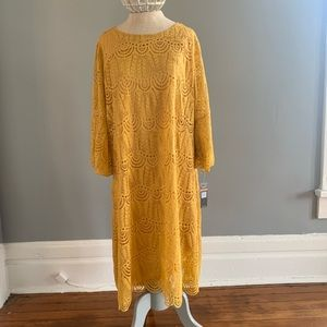 Dresses & Skirts - Long Sleeved Dress In Saffron Yellow